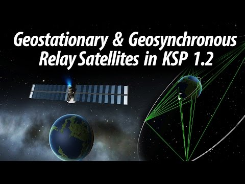 How to set up a Geostationary Relay Network in KSP 1.2  (Tutorial: 27) Kerbal Space Program