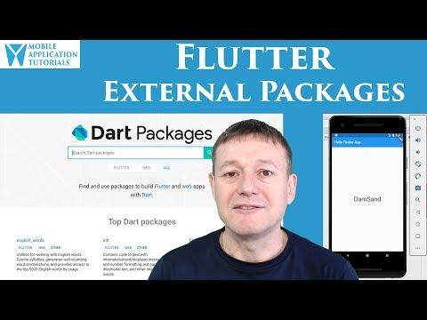 Flutter installing external packages