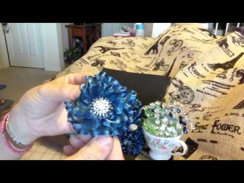 Ribbon flowers and Stickpins