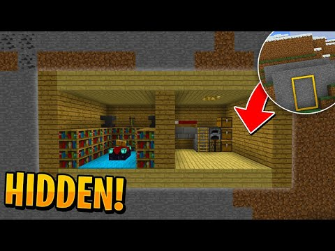 How To Make A SECRET HIDDEN BASE In Minecraft! (PE/Win10)