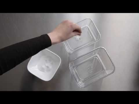 Store Containers with Salt to Keep Them Odor Free