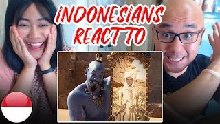 Download Indonesians React To ALADDIN OFFICIAL TRAILER | Will Smith, Naomi Scott, Mena Massoud Video