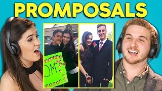 TEENS REACT TO PROMPOSALS 2017