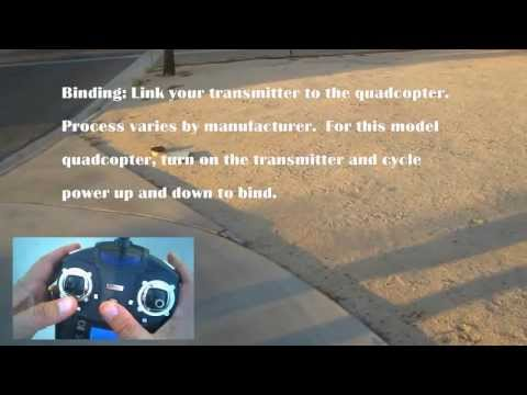 How to Fly a Quadcopter: Initialization, Binding, Trimming