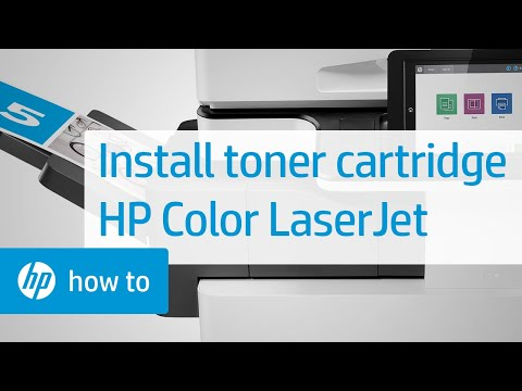 How To Install a Toner Cartridge in an HP Color LaserJet Managed MFP E87640, E87650, E87660