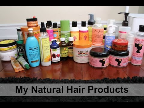 Natural Hair Products Stash 2017