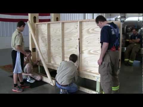 Firefighter Window Rescue Training Prop - Setup