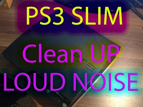 PS3 SLIM LOUD FAN NOISE/ How to repair?
