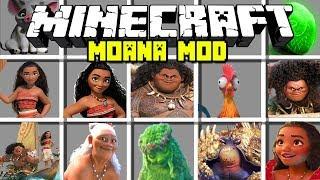 Minecraft MOANA MOD! | MOANA, MAUI, TAMATOA & MORE! | Modded Mini-Game