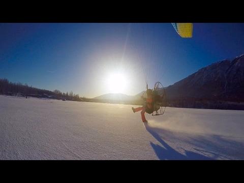 Paramotor Alaska Winter Flying