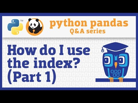 What do I need to know about the pandas index? (Part 1)