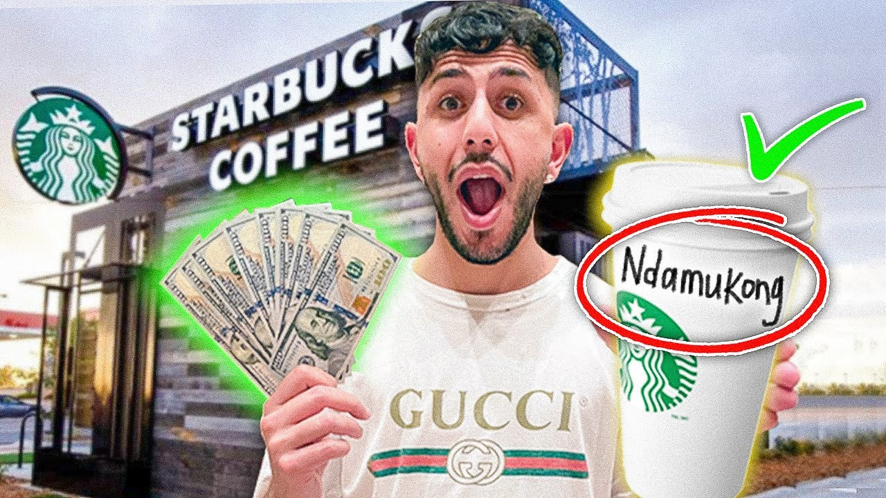 Giving Starbucks Employees $1,000 If They Spell My Name Right!