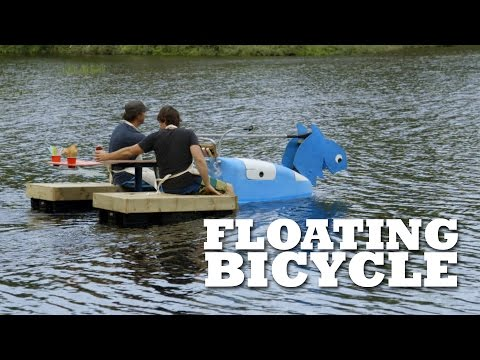 How to build a FLOATING Ice Cream Bike