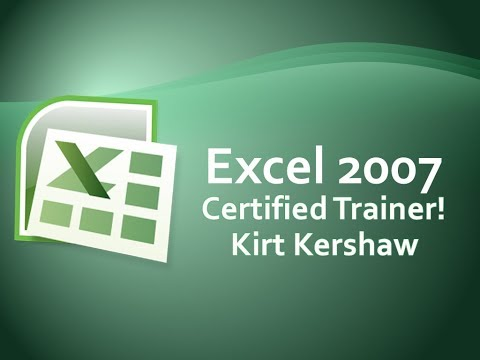 Excel 2007 Print Rows Top Each Page - Repeat Column Headers Training Video