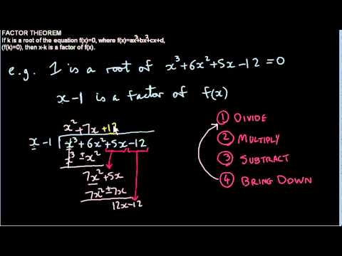 Solving Cubic Equations using the Factor theorem and Long Division