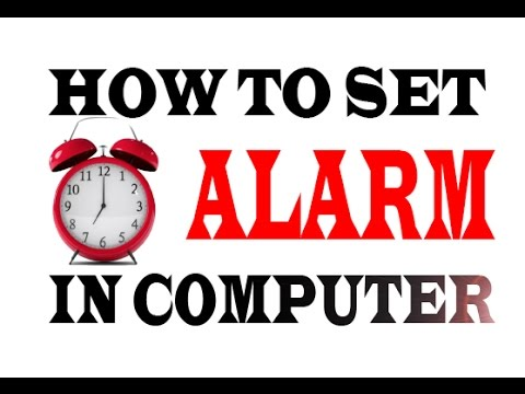 how to set alarm in windows 7,8 in hindi