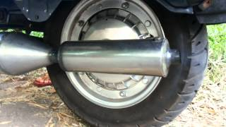 OPENED vespa SIP ROAD v1 box exhaust after 5000km due 2loud