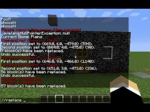 How to Use the Replace Tool in Minecraft using WorldEdit/SinglePlayerCommands