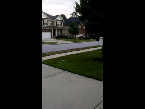 Speeding school bus in residential area.Columbia, SC- Lake Carolina