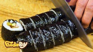 Download Kimbap with Burdock / Korean Street Food / Seongdong Market, Gyeongju Korea Video