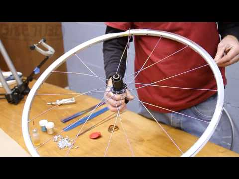 Lacing a Rear 32 Spoke Wheel, 3 Cross | How to Build a Bicycle Wheel