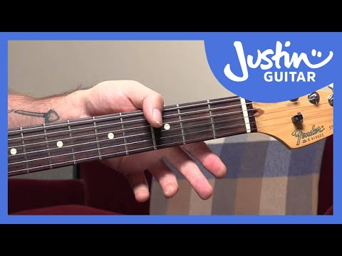 How To Use Your Thumb To Play Chord Bass Notes - Jimi Hendrix Style- Guitar Lesson Tutorial [QA-006]