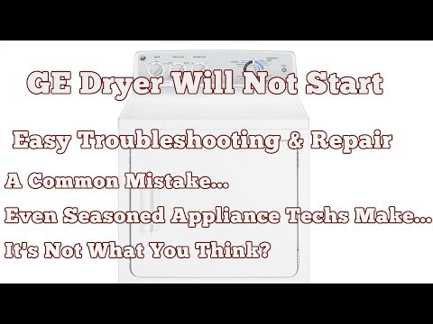 Appliance Troubleshooting Why Your Dryer Won't Start - GE Dryer Will Not Start Easy Repair