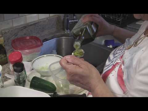 Angelo's Mom Makes Tzatziki (Greek Cucumber Dressing)