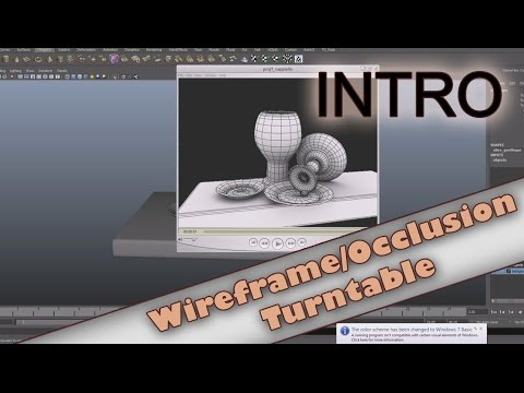 Maya 102 Intro: How to Create a Wireframe Occlusion Turntable