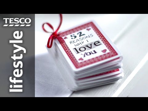 How to Make an Easy Valentine's Gift with Playing Cards | Tesco Living