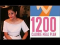 My 1200 calorie meal plan to lose 25 kg in 3 months