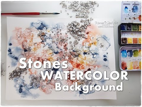 Stones Background WATERCOLOR Texture Technique for Beginners ♡ Maremi's Small Art ♡