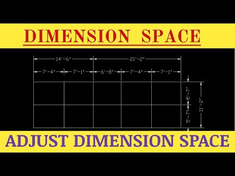 DIMENSION SPACE COMMAND IN AutoCAD  || Fix Dimension Space || CAD CAREER