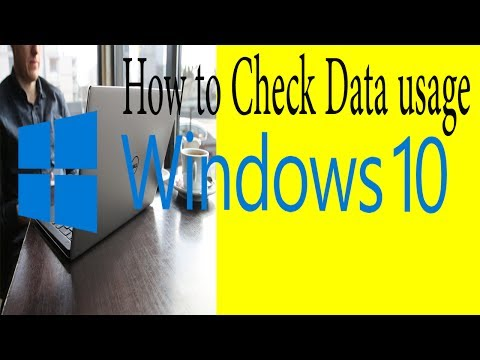 How to Check Data usage on Windows 10'' How To Check Network Usage With Settings'' detail