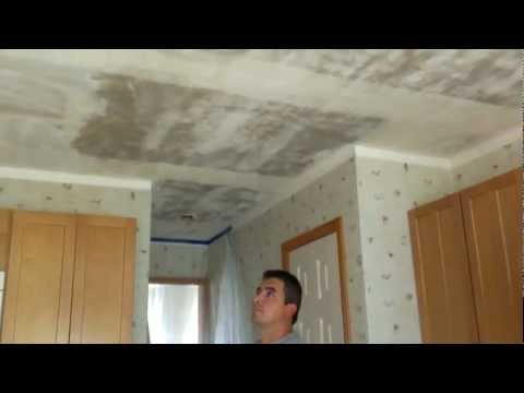 How to remove popcorn ceilings or texture ceilings