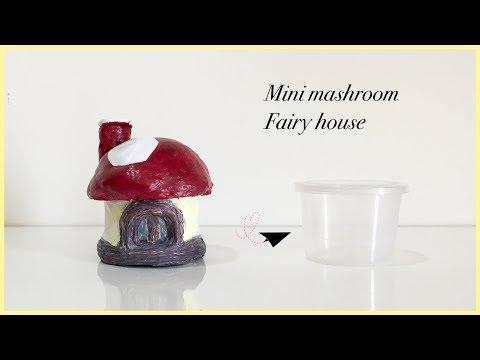 Miniature Mashroom Fairy House From Waste Plastic Container / DIY / Fairy House   Priti Sharma