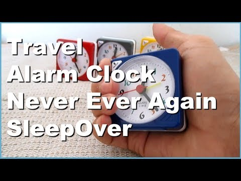 Lazy To Wake Up  Get Up From Bed Mini Travel Analog Alarm Clock with Light May Help