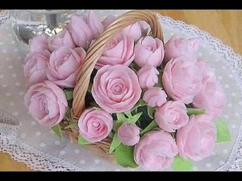 How to make an  arrangement of soap carving roses