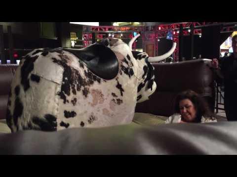 Kim on mechanical bull