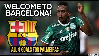 Yerry Mina ● All 9 Goals For Palmeiras 2016-2017 ● Welcome To Barcelona | Hd