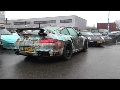 (4K) Very rusty Porsche 997 GT2 - Cars & Coffee