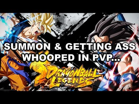 DRAGON BALL LEGENDS CLOSED BETA GAMEPLAY 1ST TIME PVP & MORE SUMMONS