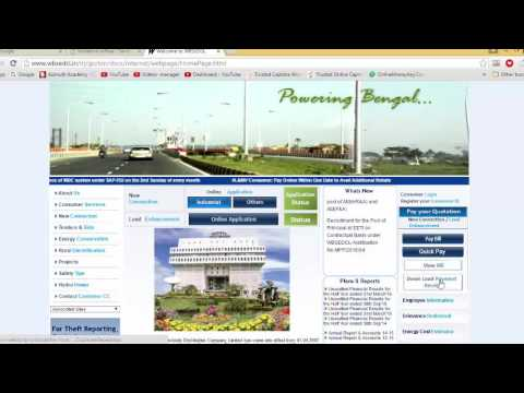 How to generate receipt after paying electricity bill online in West Bengal