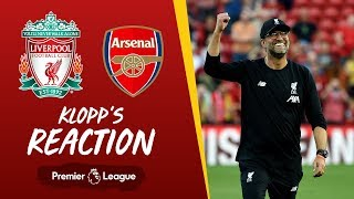 Klopp's reaction | Liverpool vs Arsenal | 'I loved the desire, passion, power and energy we put in'