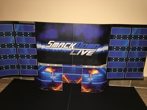 How To Make Custom WWE Smackdown Live Stage For Action Figures!