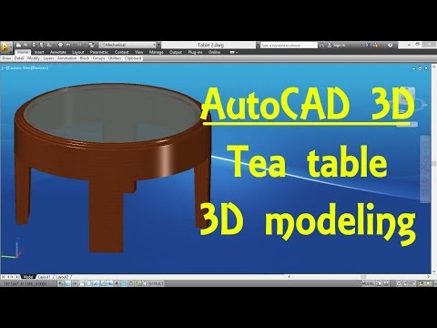 AutoCAD 3D Modeling 16 Tea table By Engineer AutoCAD Tutorials