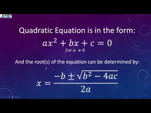 Quadratic Equation in Excel using VBA