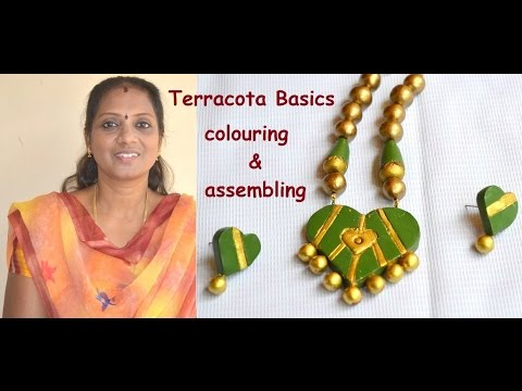 Terracotta Jewelry Basics : How to colouring and assembling