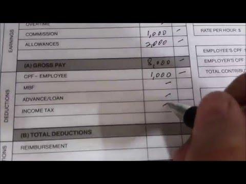 Preparing a Salary voucher