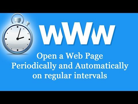Open a webpage periodically automatic from windows